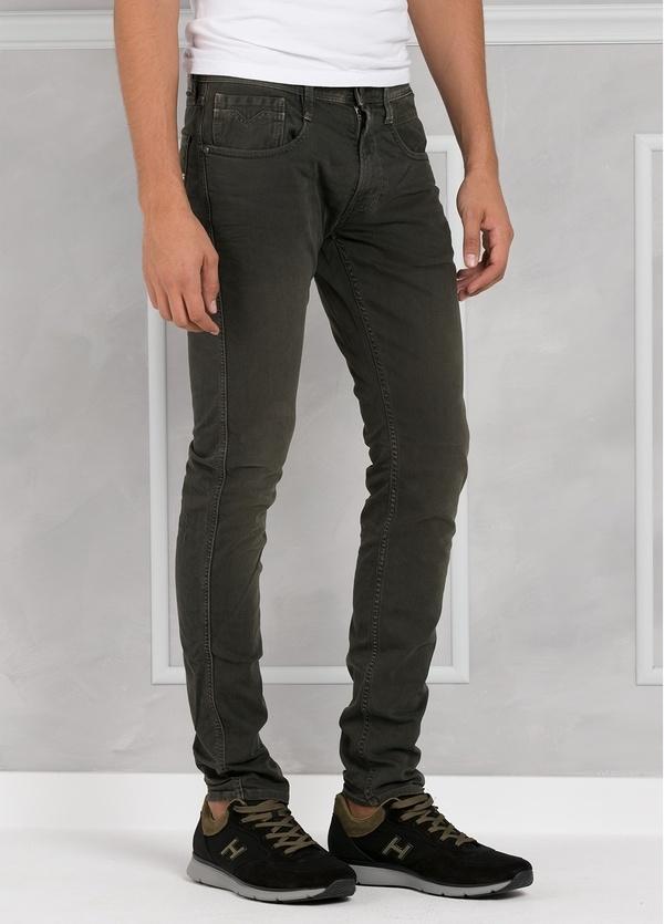 Pantalón tejano 9,5 oz SLIM M914 ANBASS color kaki lavado. 98% Algodón 2% elastán. - Ítem1