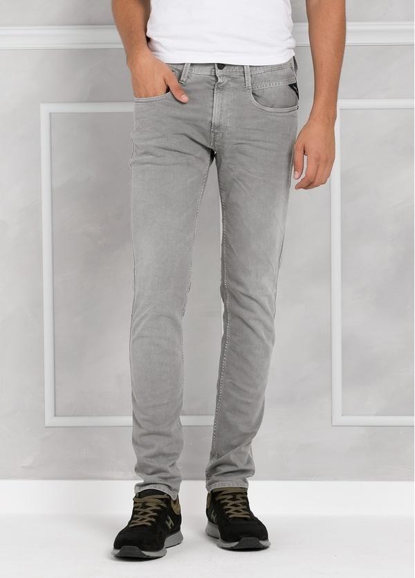 Pantalón tejano 9,5 oz SLIM M914 ANBASS color gris lavado. 98% Algodón 2% elastán. - Ítem2