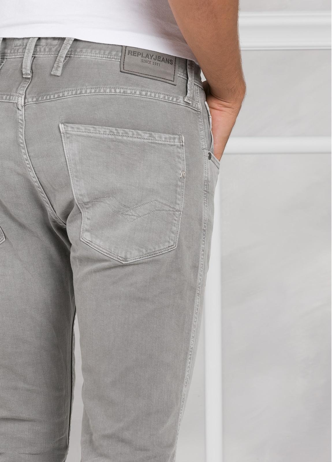 Pantalón tejano 9,5 oz SLIM M914 ANBASS color gris lavado. 98% Algodón 2% elastán. - Ítem1