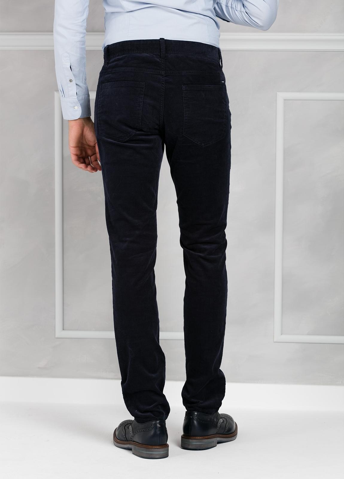 Pantalón 5 bolsillos micropana modelo FRED color azul marino. 98% Algodón 2% Elastano. - Ítem2