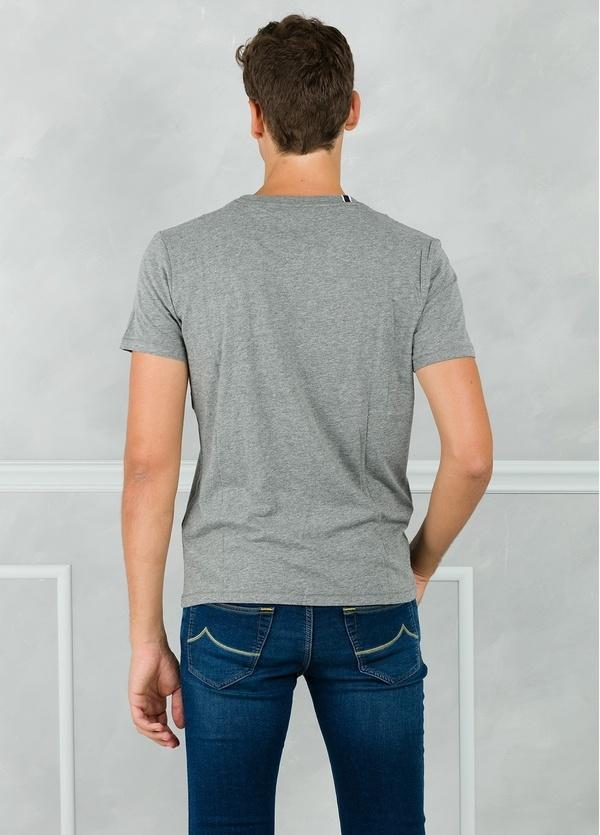Camiseta manga corta color gris con estampado gráfico. 100% Algodón. - Ítem1