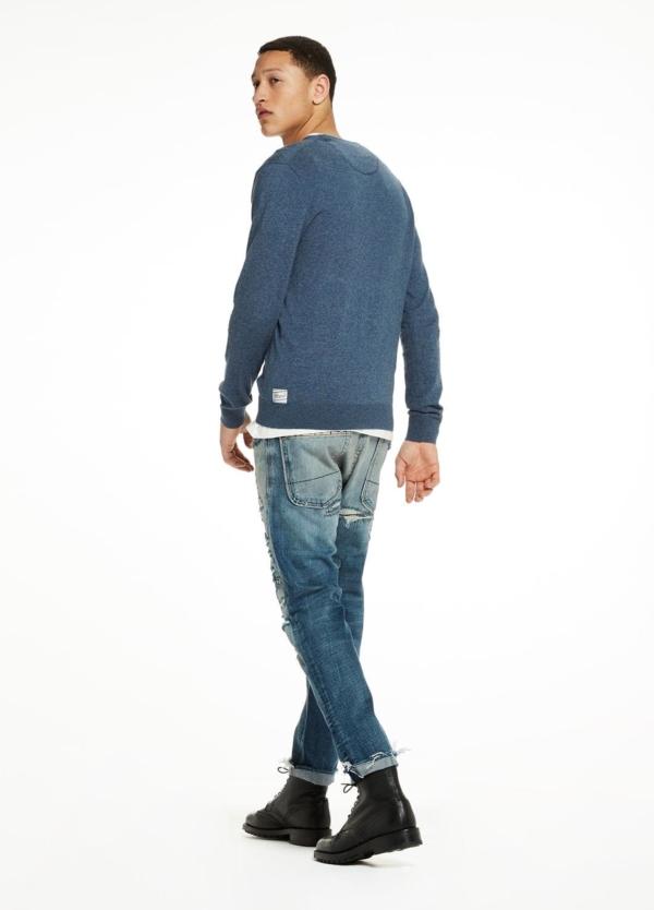 Jersey cuello redondo color azul. 95% Algodón 5% Cashmere. - Ítem2