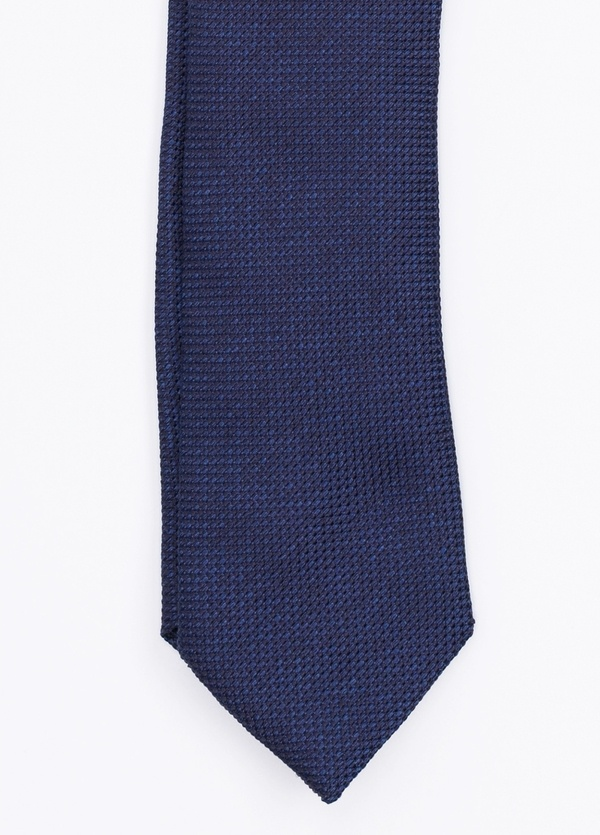 Corbata Formal Weat textura color azul marino. Pala 7,5 cm. 100% Seda.
