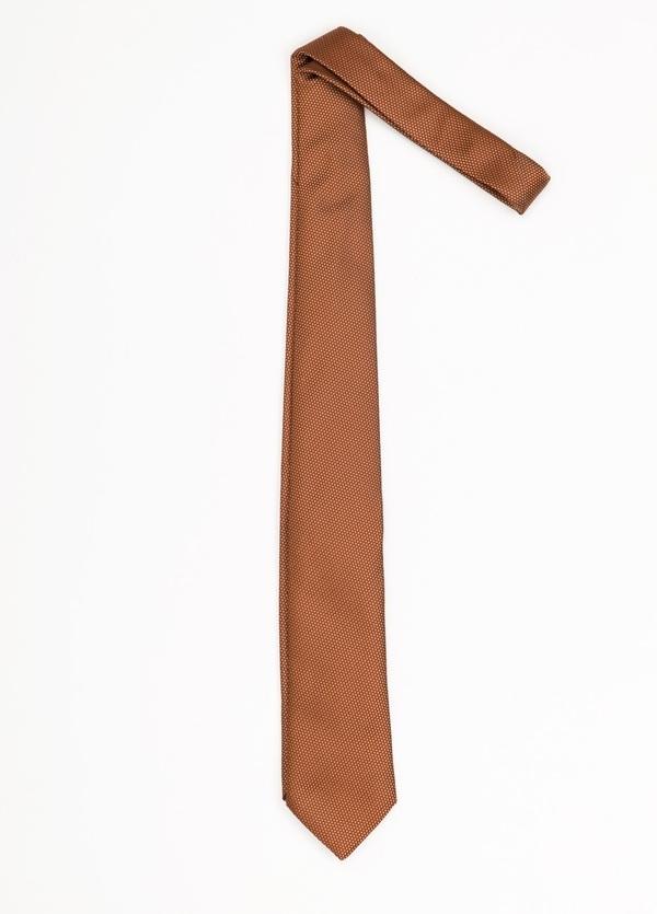 Corbata Formal Weat textura color naranja. Pala 7,5 cm. 100% Seda.