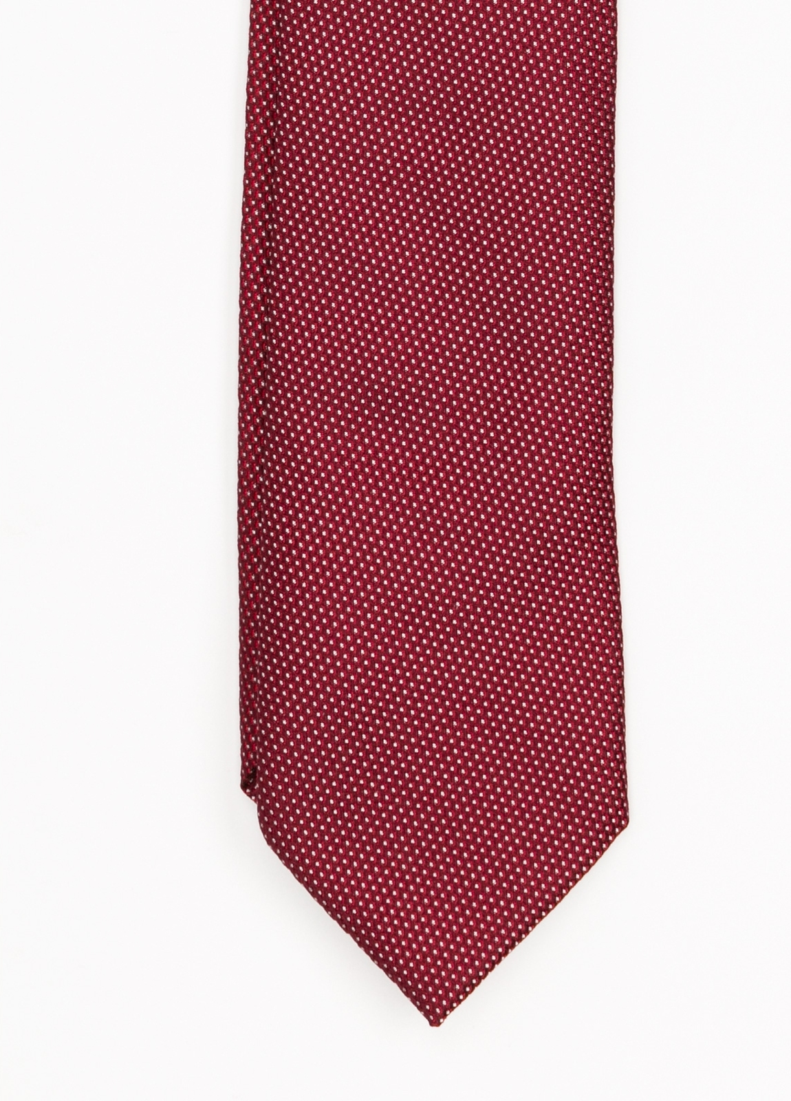 Corbata Formal Weat textura color granate. Pala 7,5 cm. 100% Seda.