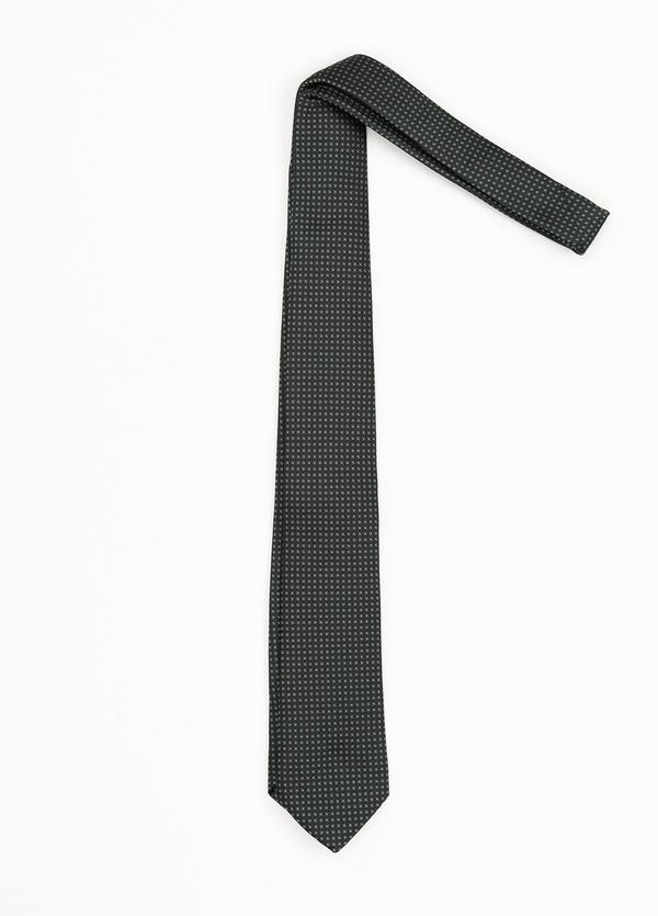 Corbata Formal Wear microdibujo, color verde. pala 7,5 cm. Seda-Algodón.