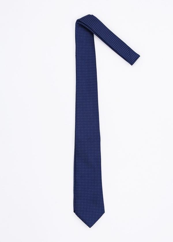 Corbata Formal Wear microdibujo, color azul. pala 7,5 cm. Seda-Algodón. - Ítem1