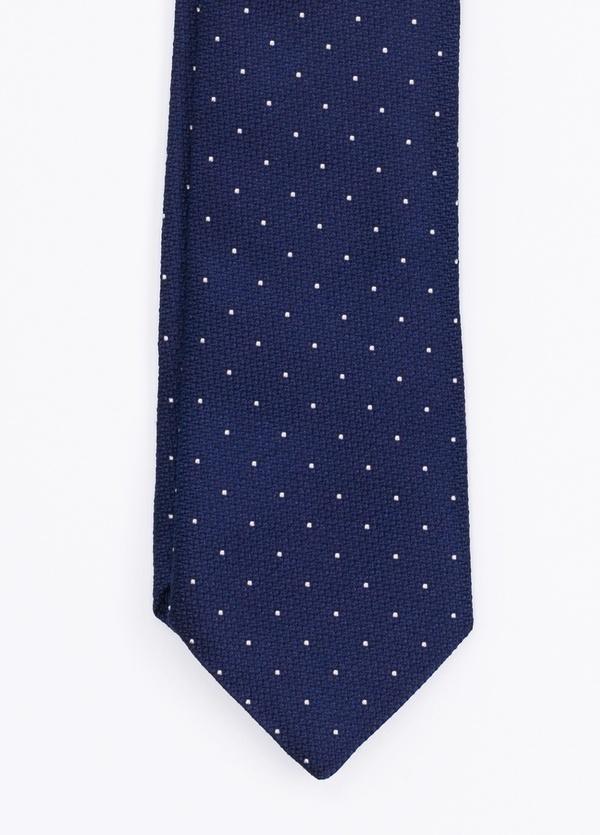 Corbata Formal Wear topitos, color azul. Pala 7,5 cm. 100% Seda.