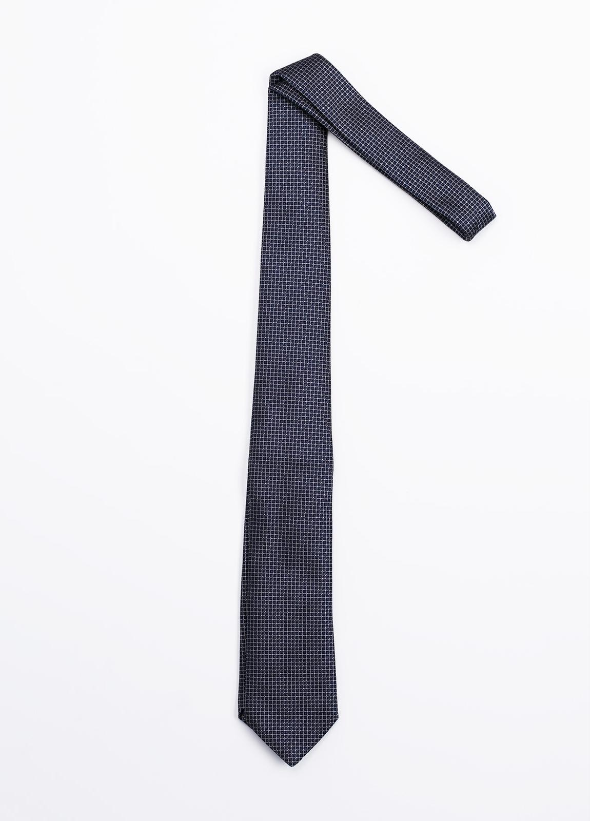 Corbata Formal Wear microdibujo, color azul marino. Pala 7,5 cm. 100% Seda. - Ítem1