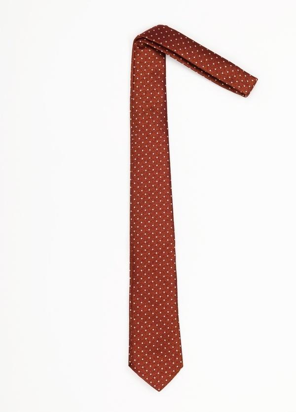 Corbata Formal Wear topitos, color naranja. Pala 7,5 cm. 100% Seda. - Ítem1