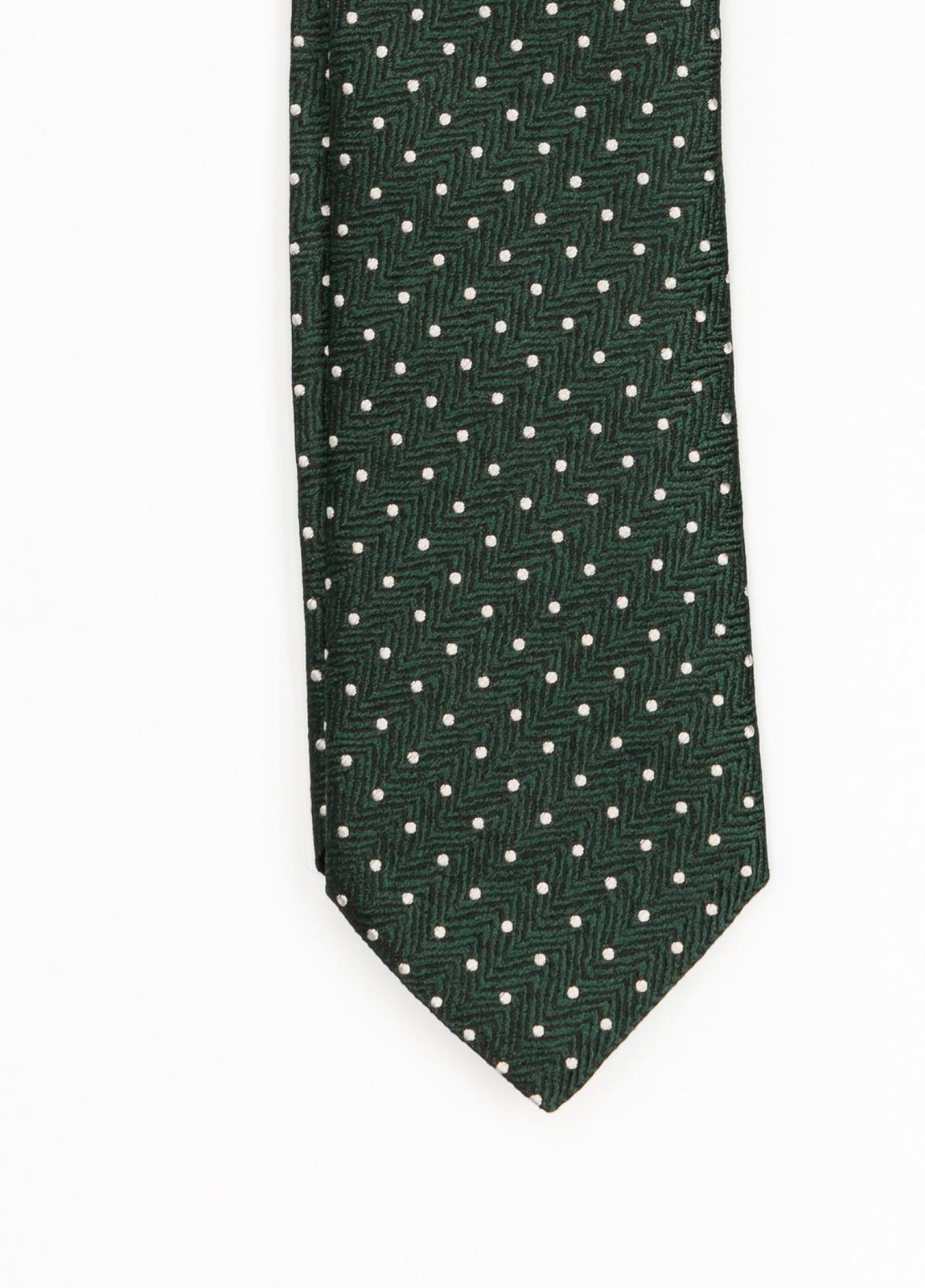 Corbata Formal Wear topitos, color verde. Pala 7,5 cm. 100% Seda. - Ítem1