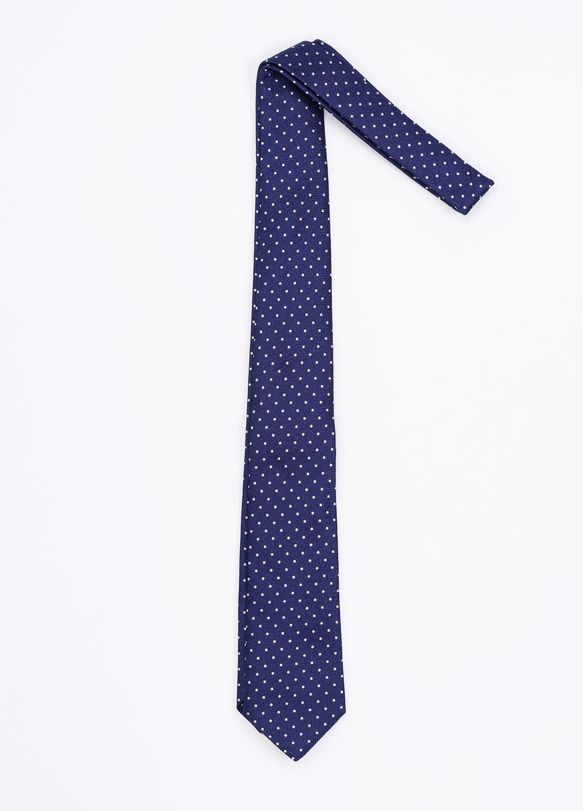 Corbata Formal Wear topitos, color azul. Pala 7,5 cm. 100% Seda. - Ítem1