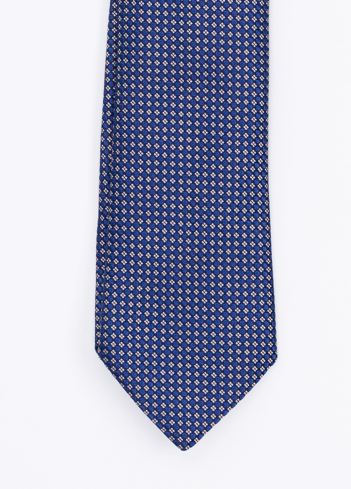 Corbata Formal Wear microdibujo, color azul. Pala 7,5 cm. 100% Seda.