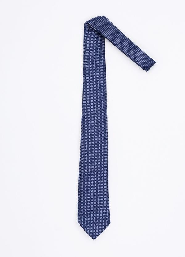 Corbata Formal Wear microdibujo, color azul. Pala 7,5 cm. 100% Seda. - Ítem1