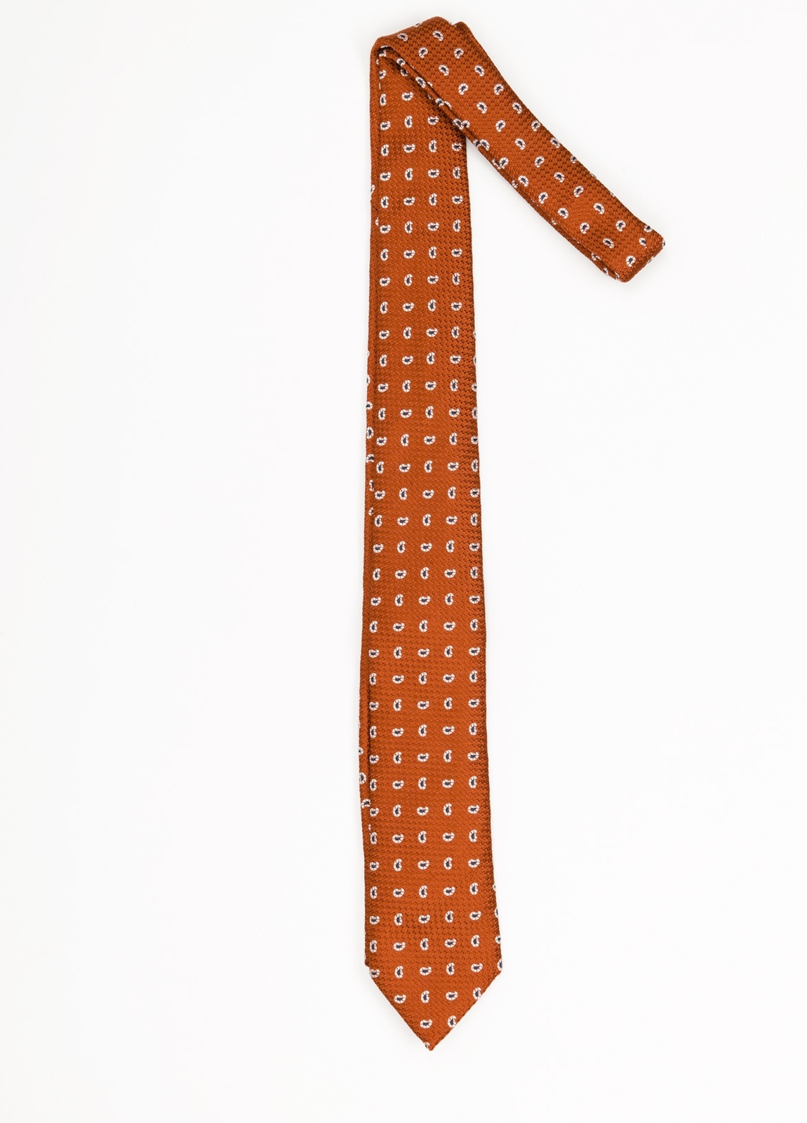 Corbata Formal Wear microdibujo, color naranja. Pala 7,5 cm. 100% SedFo