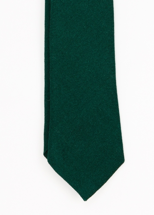 Corbata Formal Wear microtextura, color verde. Pala 7,5 cm. 100% Lana.