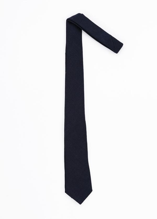 Corbata Formal Wear microtextura, color azul marino. Pala 7,5 cm. 100% Lana.