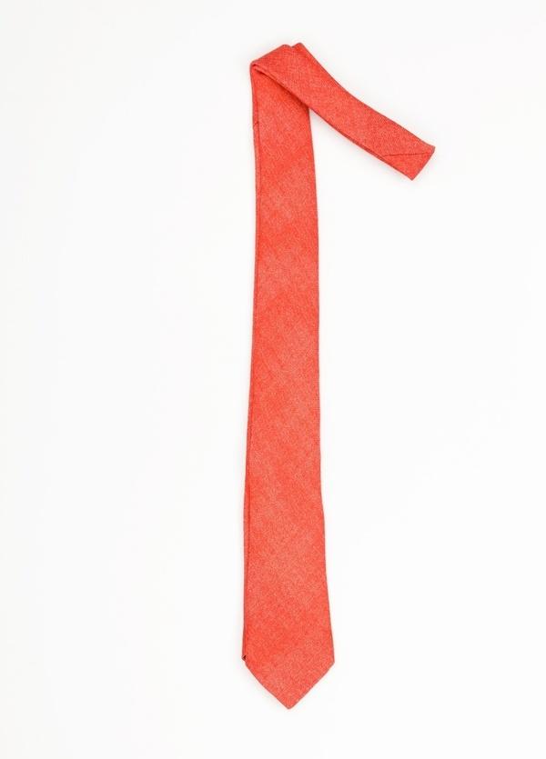 Corbata Formal Wear microtextura, color rojo. Pala 7,5 cm. 100% Lana. - Ítem1