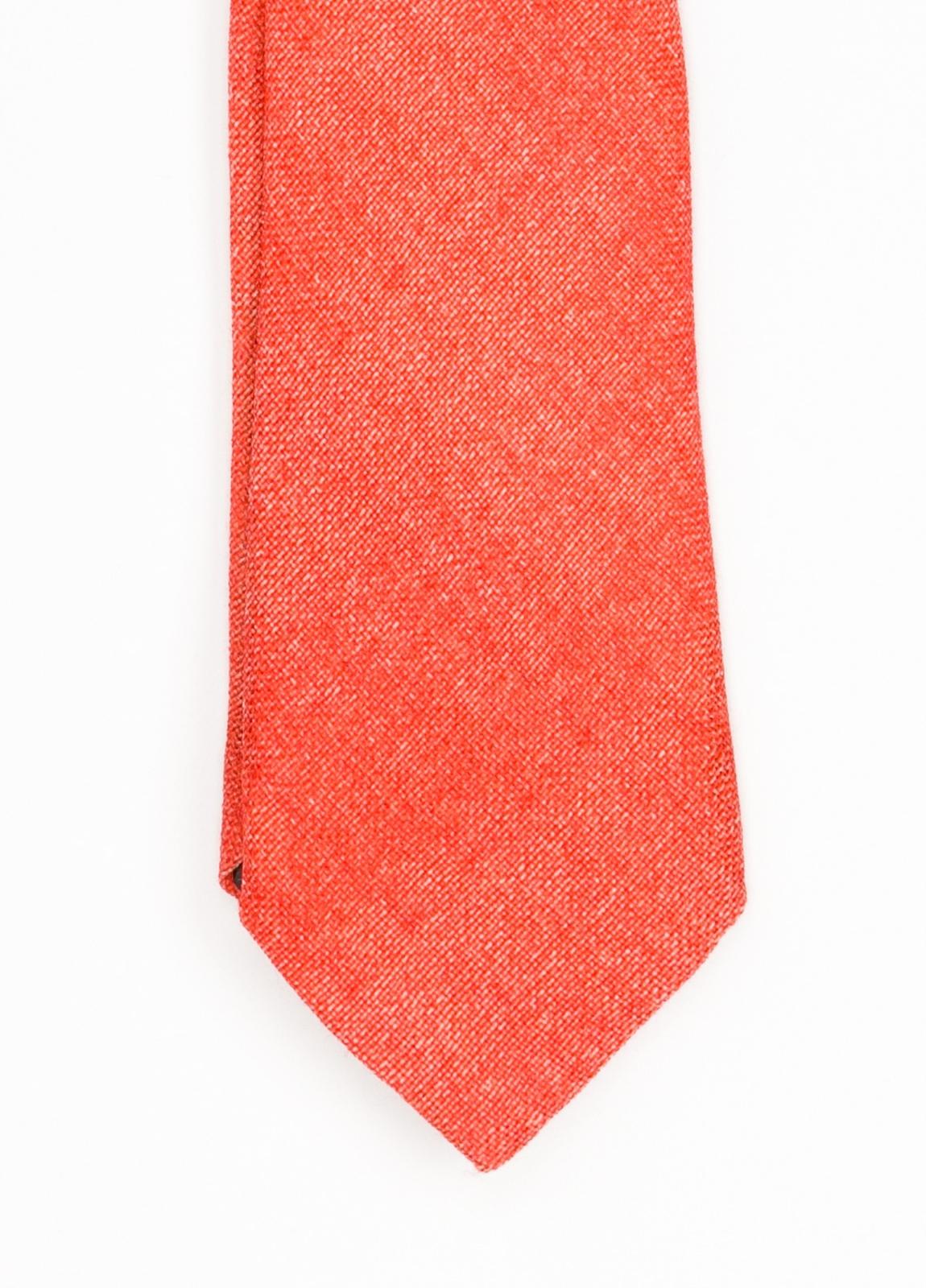 Corbata Formal Wear microtextura, color rojo. Pala 7,5 cm. 100% Lana.