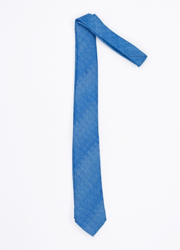 Corbata Formal Wear microtextura, color azul. Pala 7,5 cm. 100% Lana. - Ítem1