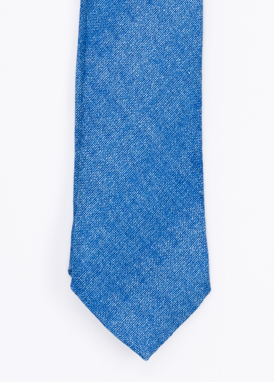 Corbata Formal Wear microtextura, color azul. Pala 7,5 cm. 100% Lana.