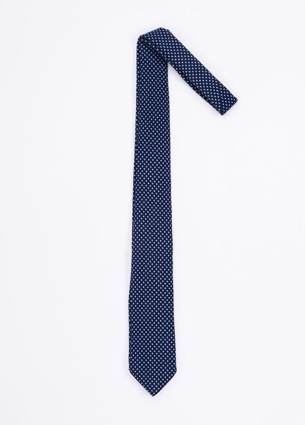 Corbata Formal Wear estampado topitos, color azul marino. Pala 7,5 cm. 100% Lana. - Ítem1