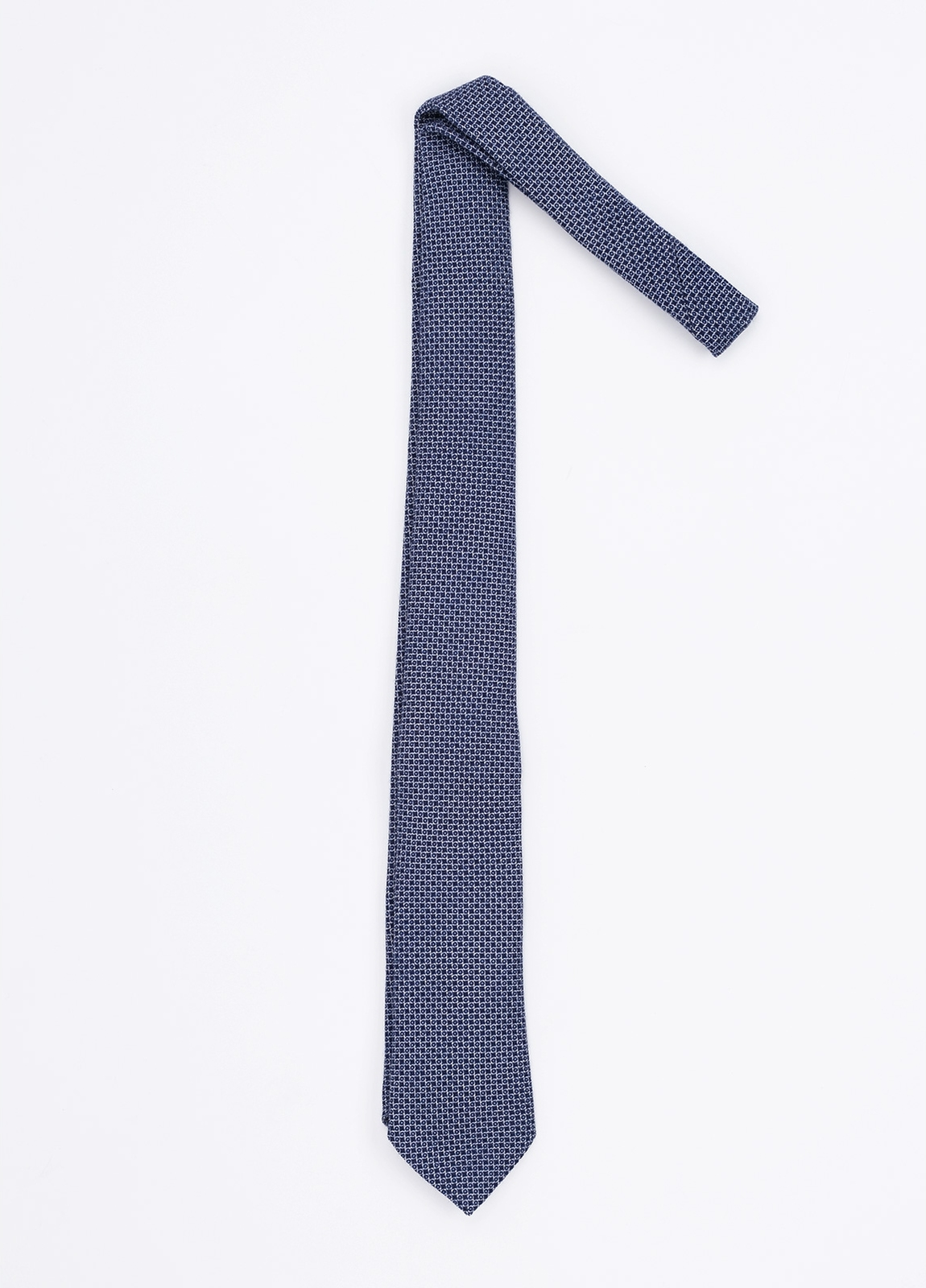 Corbata Formal Wear microdibujo, color azul marino. Pala 7,5 cm. 100% Lana.