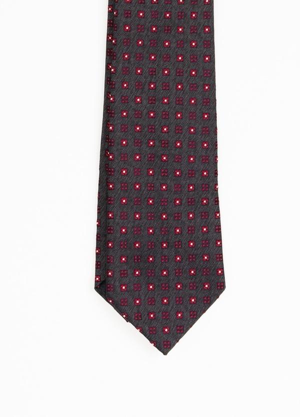 Corbata Formal Wear estampado flores, color gris. Pala 7,5 cm. 100% Seda. - Ítem1