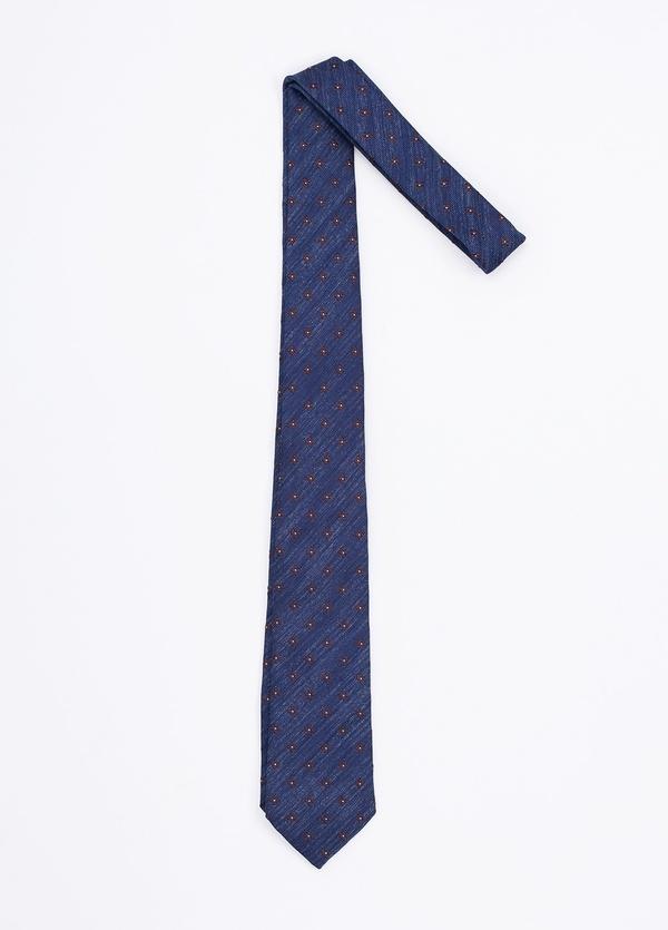 Corbata Formal Wear estampado flor, color azul. Pala 7,5 cm. 100% Seda. - Ítem1
