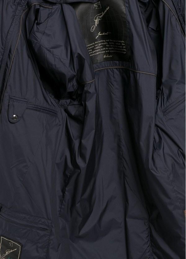 Gabardina con pecherín interior color azul marino, tejido técnico repelente al agua. - Ítem2