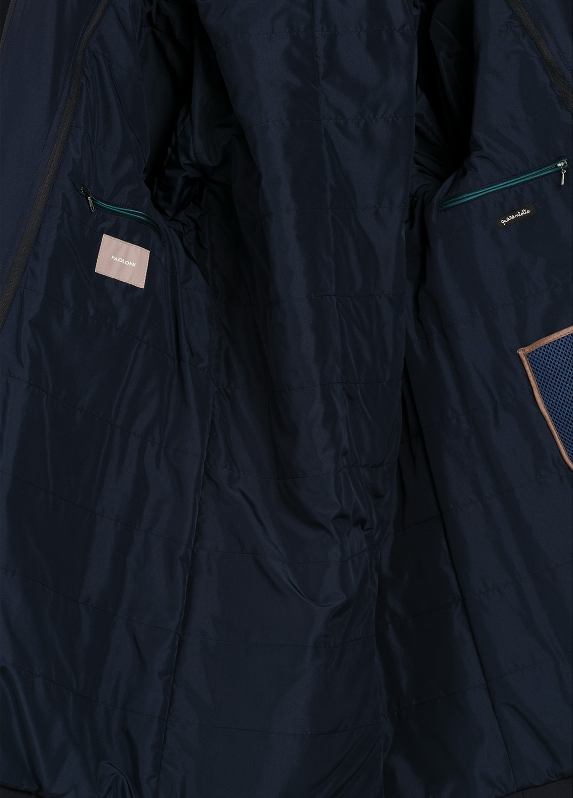 Gabardina color azul marino con pecherín interior. 100% Poliamida. - Ítem1