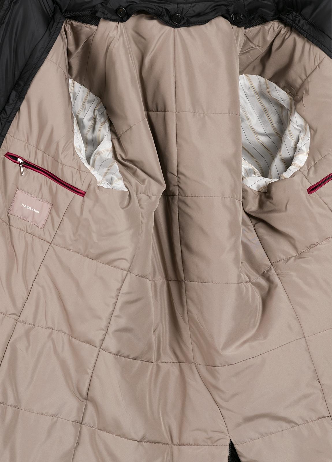 Abrigo tres botones color gris con pecherín interior. 65% Lana 30% Poliamida 5% fibras. - Ítem1