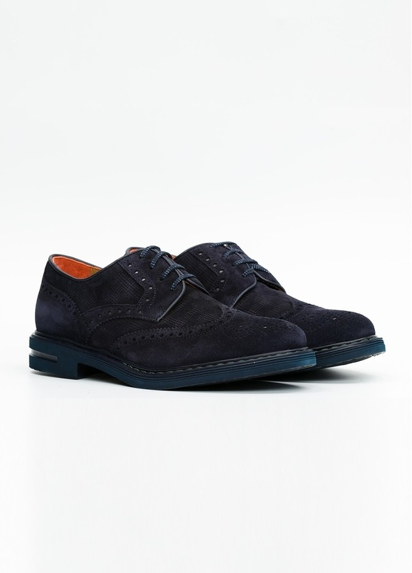 Zapato Formal Wear color azul marino. 100% Serraje. - Ítem3