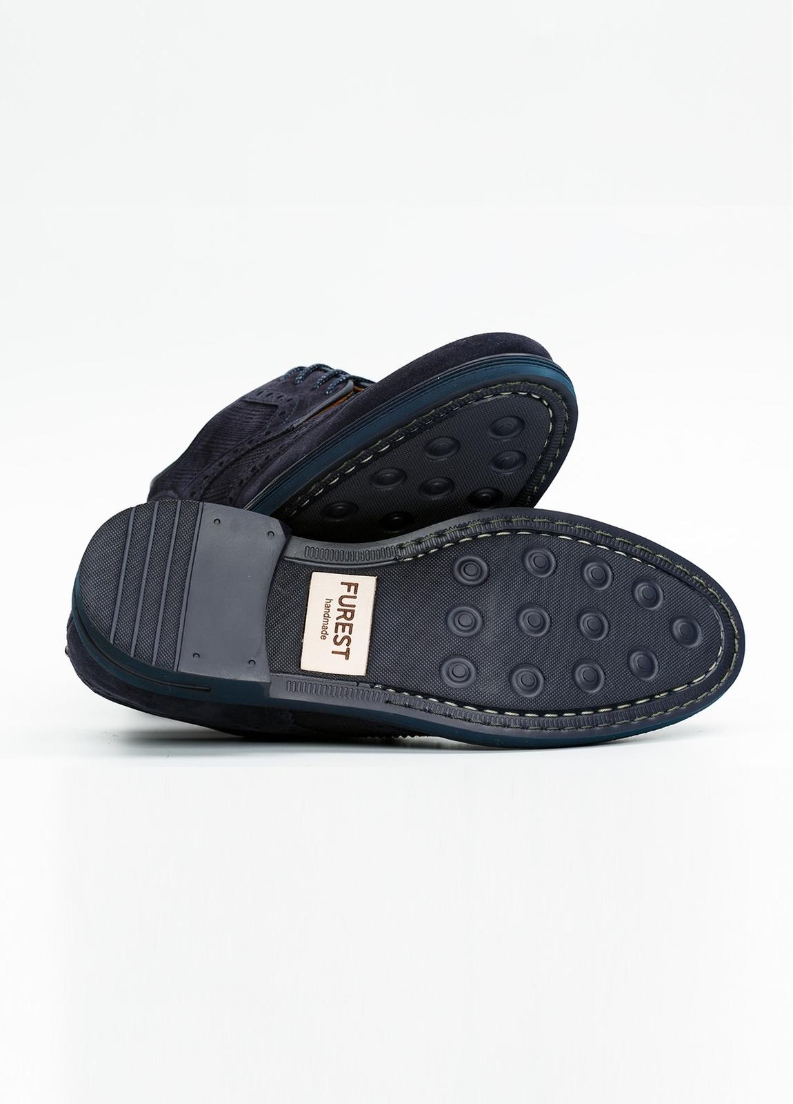 Zapato Formal Wear color azul marino. 100% Serraje. - Ítem1