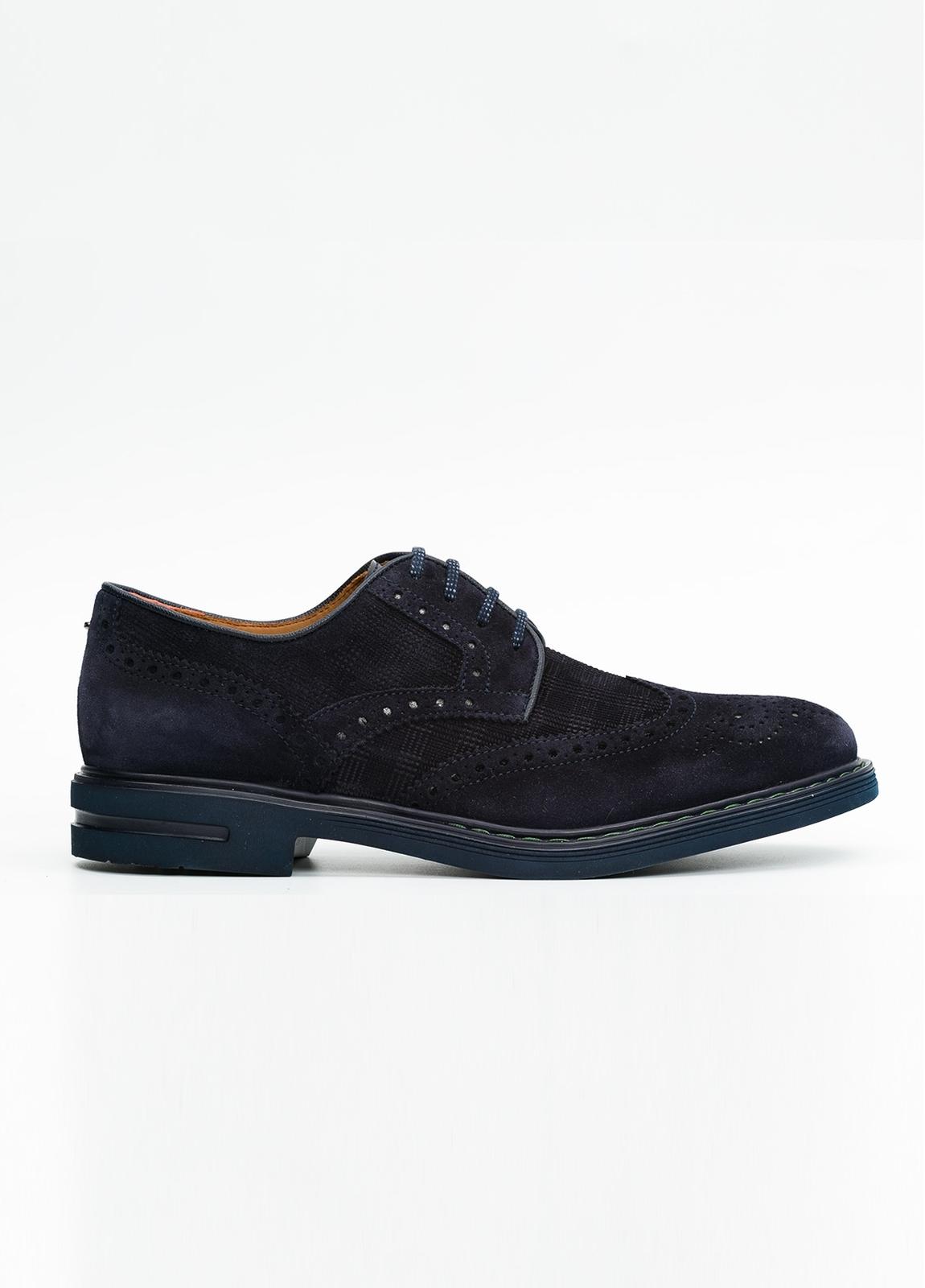 Zapato Formal Wear color azul marino. 100% Serraje.