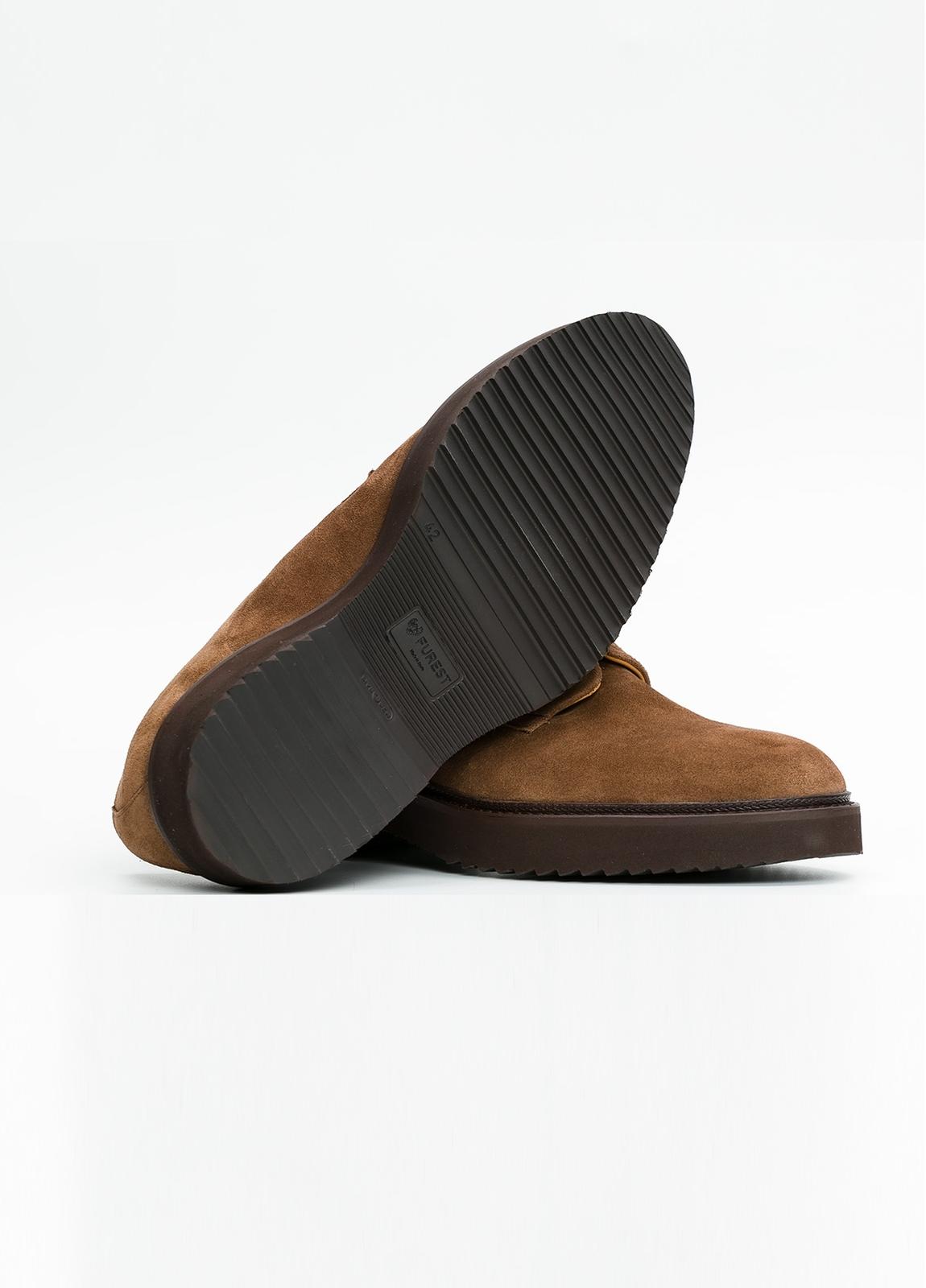 Zapato Sport Wear color tostado. 100% Serraje. - Ítem3