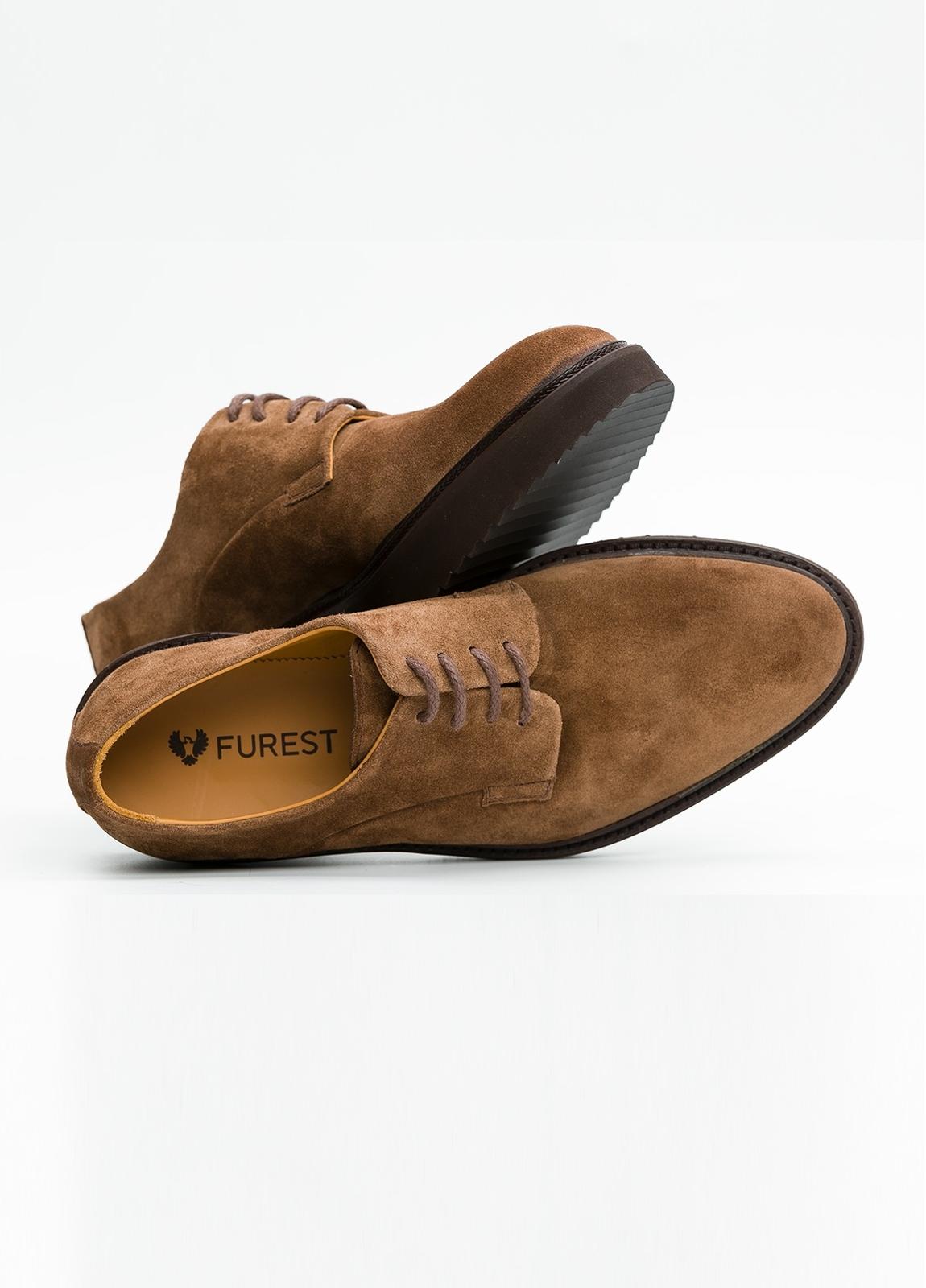 Zapato Sport Wear color tostado. 100% Serraje. - Ítem4