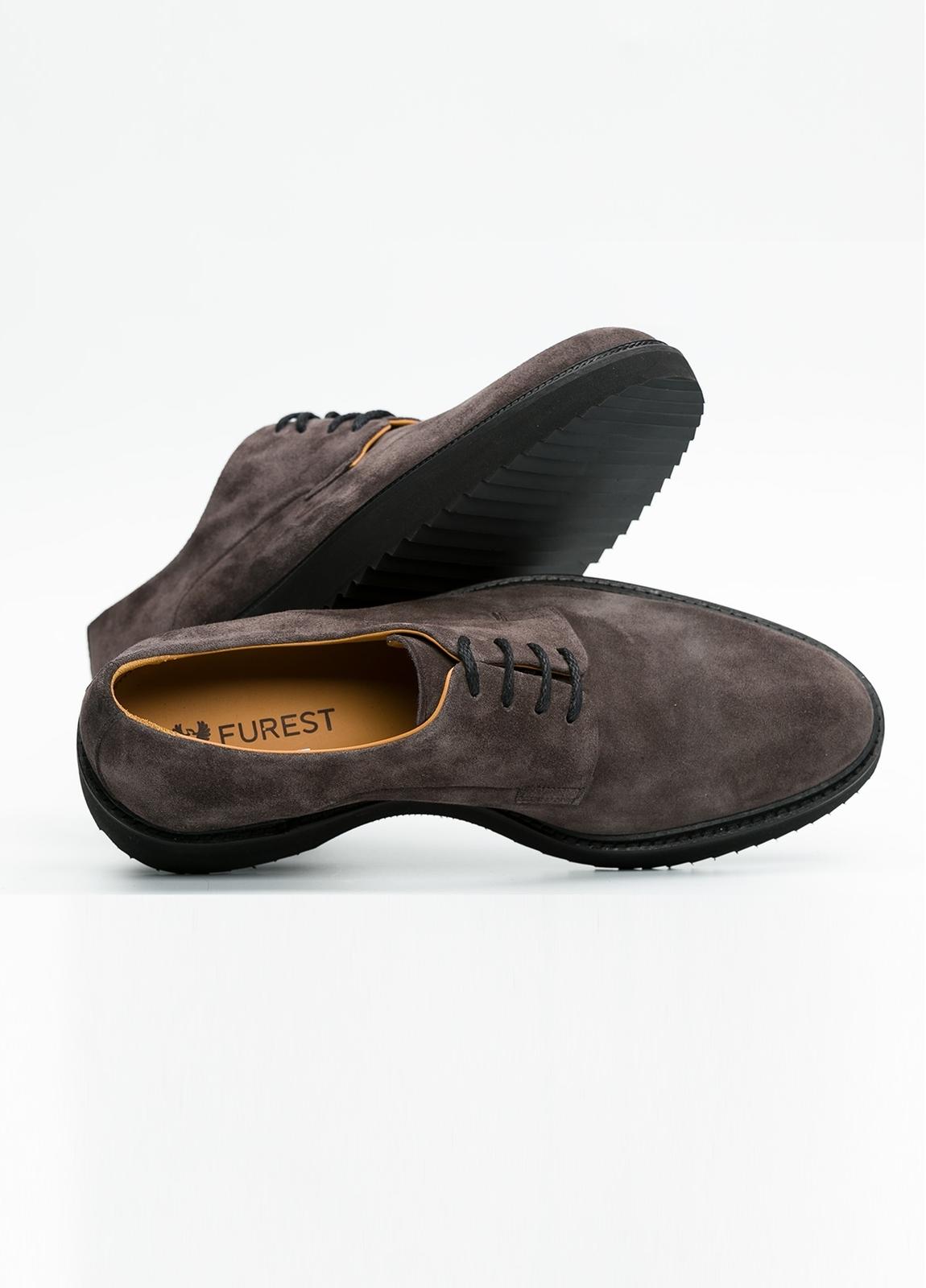Zapato Sport Wear color gris. 100% Serraje. - Ítem4