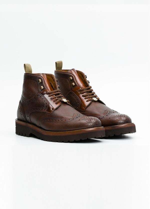 Botín Formal Wear color marrón. 100% Piel troquelada. - Ítem2