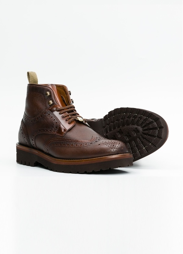 Botín Formal Wear color marrón. 100% Piel troquelada. - Ítem3