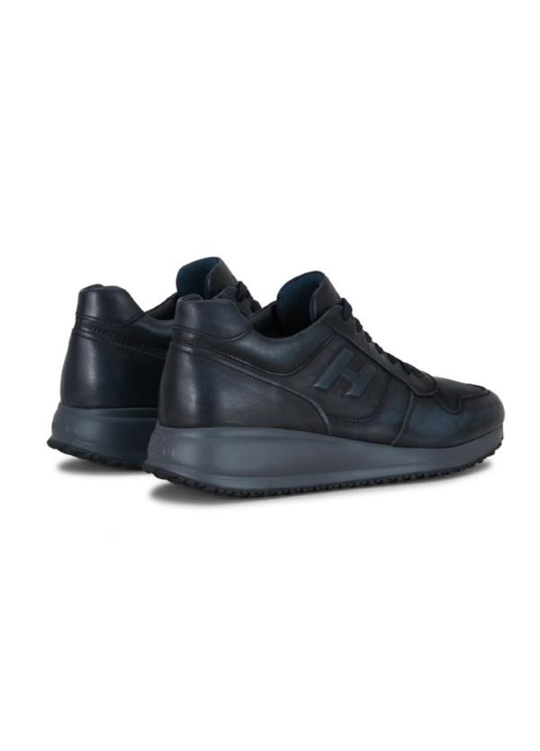 Calzado sport INTERACTIVE-N20 color azul. Piel con costuras a la vista. - Ítem2