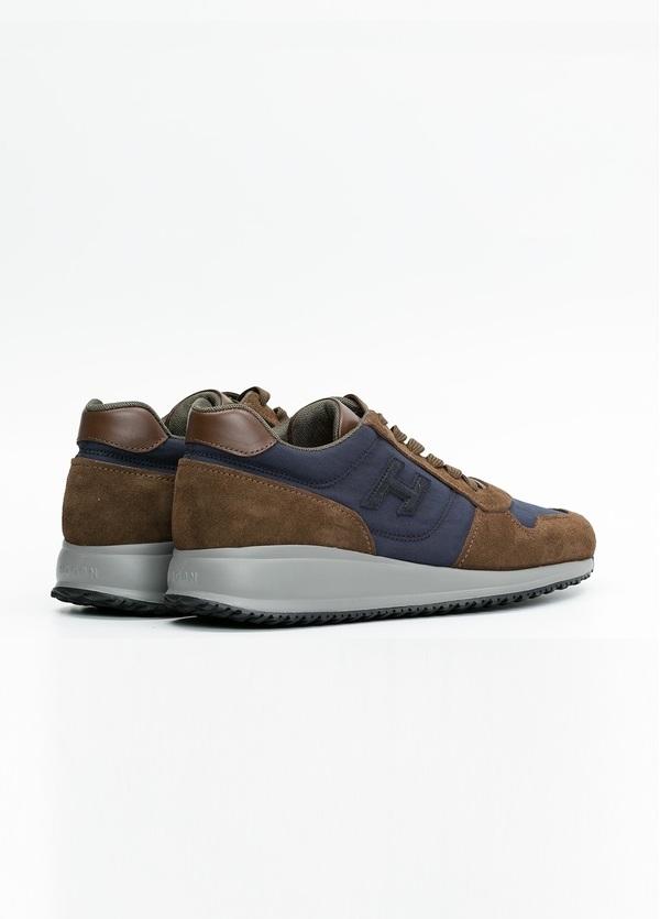 Calzado sport INTERACTIVE color marrón y azul. Combinación de serraje, tejido técnico y apliques en piel. - Ítem3