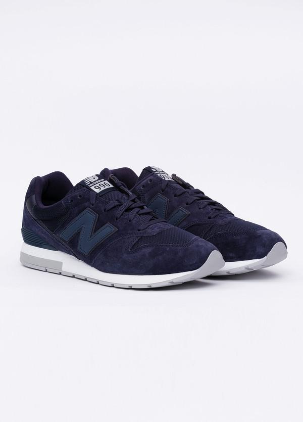 Sneaker MRL996 color azul marino. Combinación de serraje, tejido técnico y detalles en piel. - Ítem3