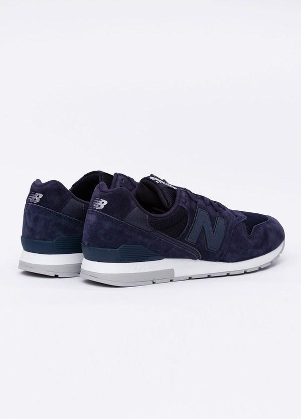 Sneaker MRL996 color azul marino. Combinación de serraje, tejido técnico y detalles en piel. - Ítem2
