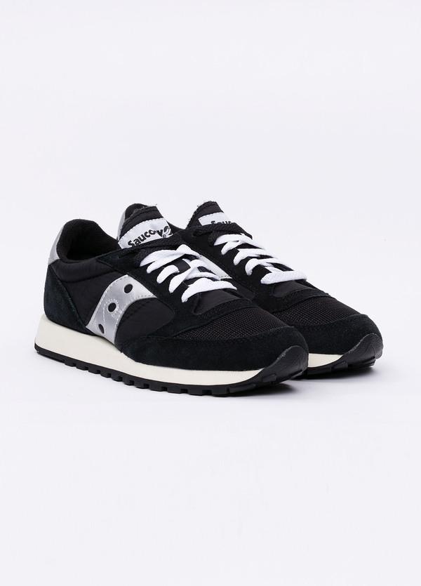 Calzado sport JAZZ OR VINT color negro con detalles blancos, combinación de serraje y tejido técnico. - Ítem2
