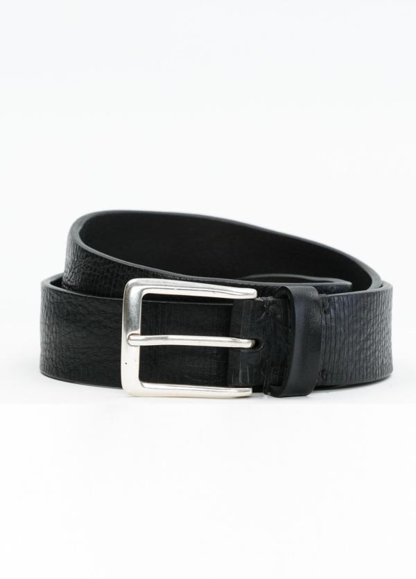 Cinturón Sport piel grabada color negro, 100% Piel.