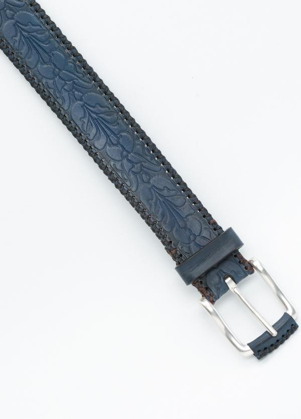Cinturón Sport piel grabada color azul, 100% Piel. - Ítem1
