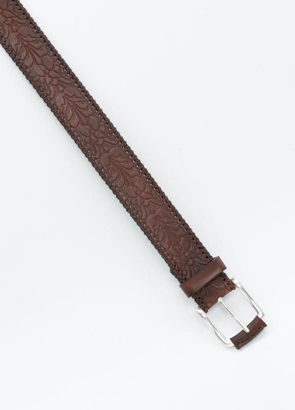 Cinturón Sport piel grabada color marrón, 100% Piel. - Ítem1