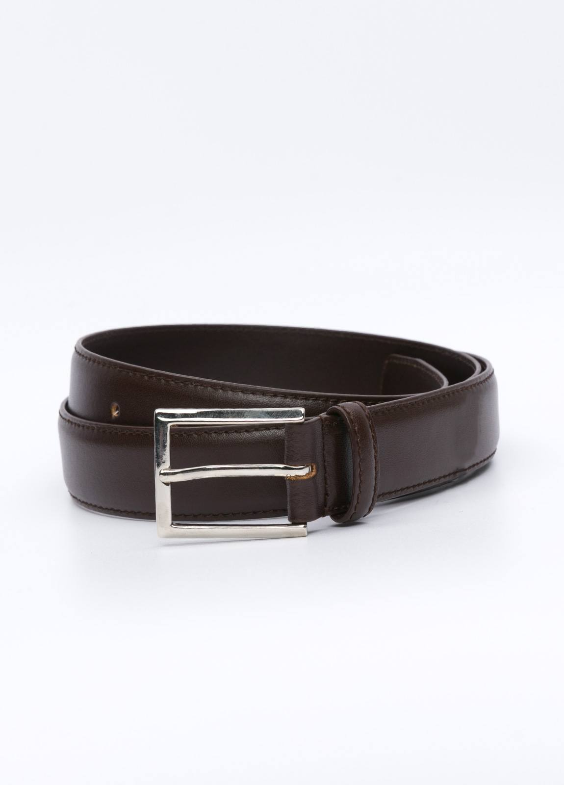 Cinturón Vestir FUREST COLECCIÓN piel lisa marrón