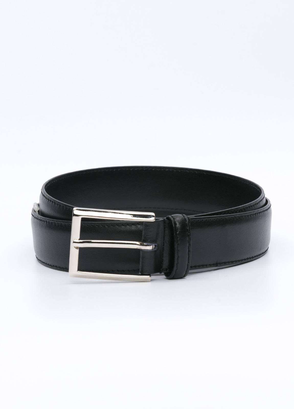 Cinturón Vestir FUREST COLECCIÓN piel lisa negro